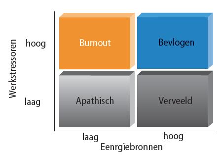 Werkstressoren-Energiebalans (WEB)-model gebaseerd op Karasek (2013)