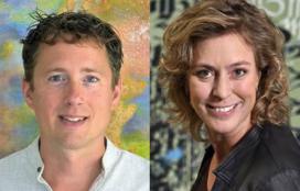 Een bijzonder duo: verhalenvertellers Wouter Hart en Jitske Kramer