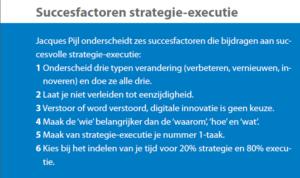 Succesfactoren Strategie Executie volgens Jacques Pijl