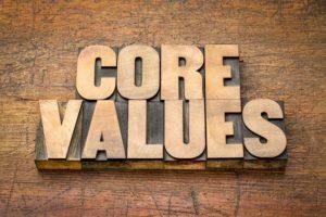 Welke kernwaarden spelen mee bij de verandering?